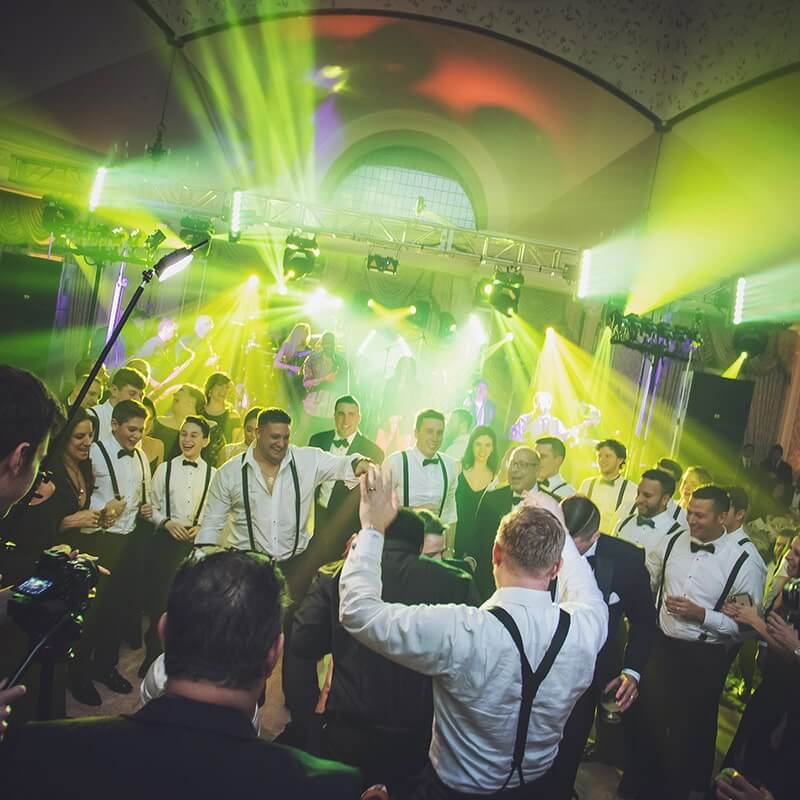 Wedding with Party Lighting