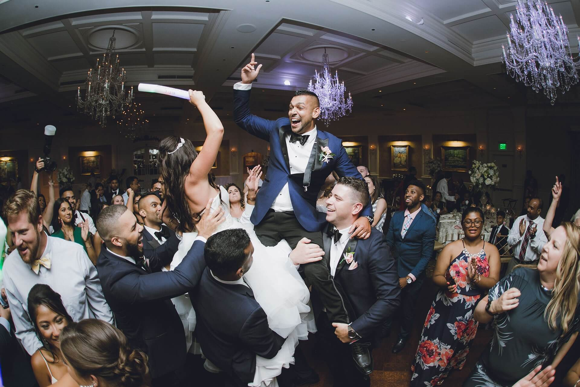 Groom having a blast